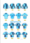 wycombe wanderers shirts through the years  print